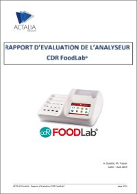 Télécharger RAPPORT D'EVALUATION DE L'ANALYSEUR CDR FoodLab®
